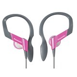 PANASONIC Lightweight Shockwave Sport Clip Earphones [RP-HS33E-P] - Pink - Earphone Ear Bud